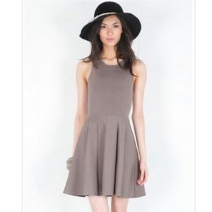 Parker Colorblock Knit Flare Dress w/ Cut Out Back